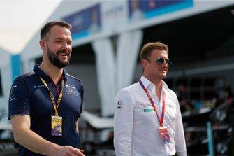 Leon Price, Envision Virgin Racing with Allan McNish, Team Principal, Audi Sport Abt Schaeffler