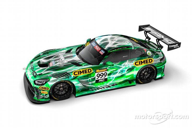 Modelo do carro que será usado por Felipe Fraga no Intercontinental GT Challenge