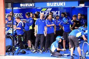 L'ambiance dans le garage Team Suzuki MotoGP