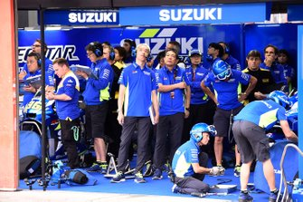 Team Suzuki MotoGP garage atmosphere