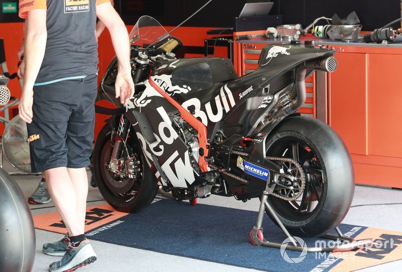 La moto de Brad Binder, Red Bull KTM Factory Racing