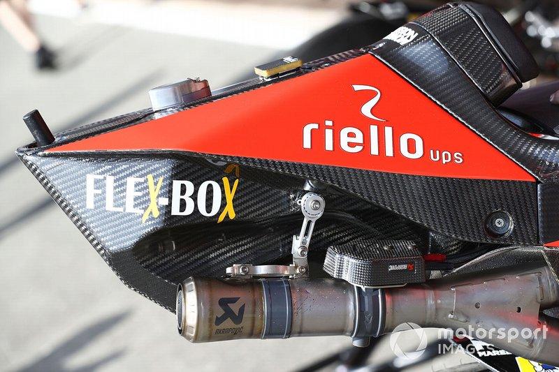 Andrea Dovizioso, Ducati Team, dettaglio della moto