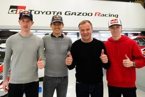 Elfyn Evans, Sébastien Ogier, Tommi Mäkinen, et Kalle Rovanperä, Toyota Racing WRT