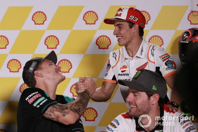 Фабио Куартараро, Petronas Yamaha SRT, и Марк Маркес, Repsol Honda Team