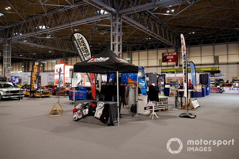 The Kelsa merchandise stand at Autosport International 2020