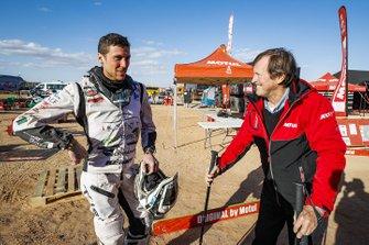 Hubert Auriol, #138 KTM: Romain Leloup