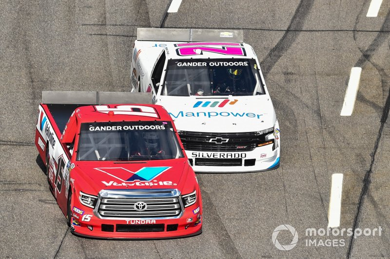 Tanner Gray, DGR-Crosley, Toyota Tundra Valvoline / Durst, Sam Mayer, GMS Racing, Chevrolet Silverado Manpower