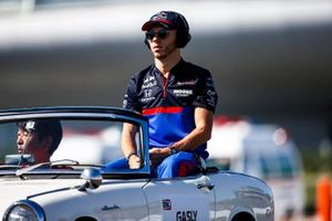 Pierre Gasly, Toro Rosso, in the drivers parade