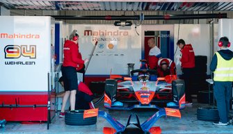 Mechanics work on Pascal Wehrlein, Mahindra Racing, M6Electro