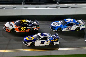 Christopher Bell, Leavine Family Racing, Toyota Camry Procore and Chase Elliott, Hendrick Motorsports, Chevrolet Camaro NAPA Auto Parts