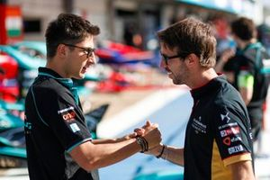 Mitch Evans, Jaguar Racing, Antonio Felix da Costa, DS Techeetah shake hands