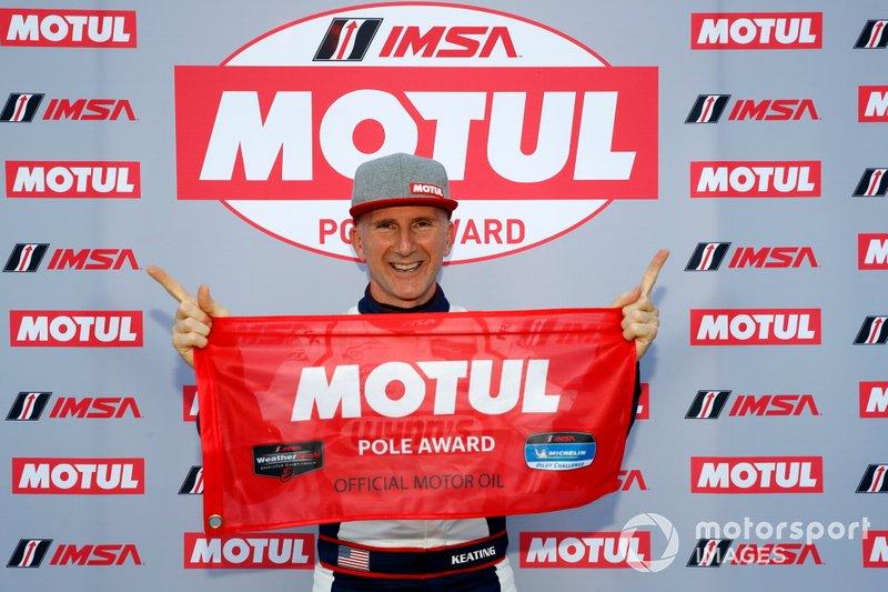 Motul Pole Award winner #52 PR1 Mathiasen Motorsports ORECA LMP2 07, LMP2: Ben Keating