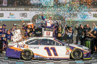 1. Denny Hamlin, Joe Gibbs Racing, Toyota Camry FedEx Ground