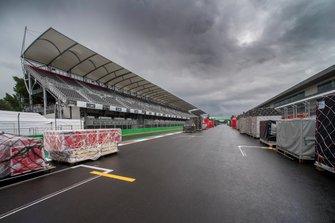 Voorbereidingen op de F1 Grand Prix van Mexico op het Autodromo Hermanos Rodriguez