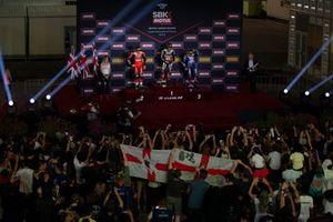 Chaz Davies, Aruba.it Racing-Ducati Team, Jonathan Rea, Kawasaki Racing Team, Alex Lowes, Pata Yamaha