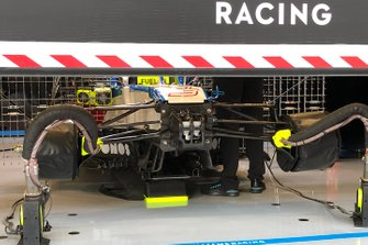 Williams FW43 in the garage