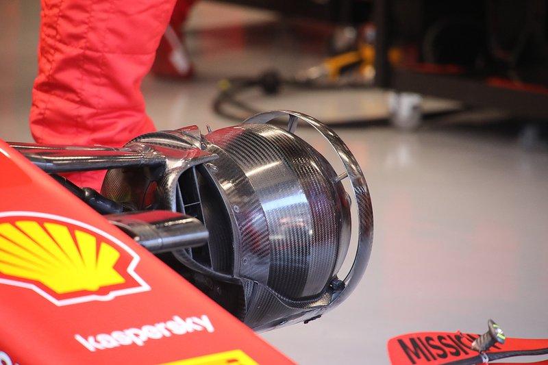 I freni anteriori della Ferrari SF1000