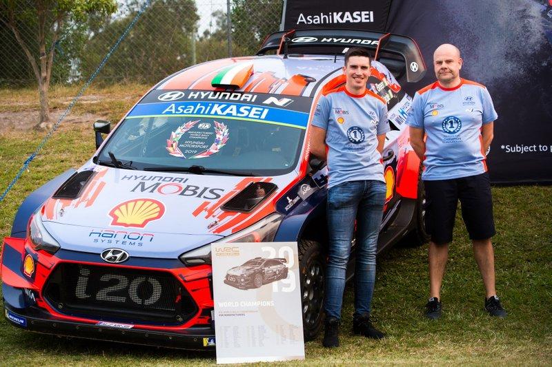 Craig Breen, Hyundai Motorsport, Andrea Adamo, Team principal Hyundai Motorsport, Hyundai i20 Coupe WRC