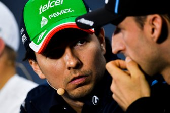 Sergio Perez, Racing Point and Robert Kubica, Williams Racing In the Press Conference
