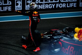 Max Verstappen, Red Bull Racing, 2nd position, celebrates