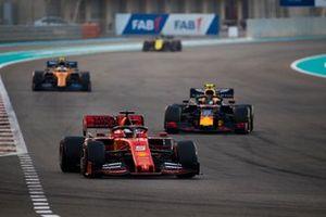 Sebastian Vettel, Ferrari SF90, Alexander Albon, Red Bull RB15, Lando Norris, McLaren MCL34