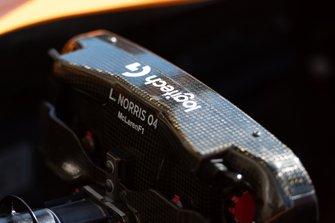 Lando Norris, McLaren, steering wheel detail