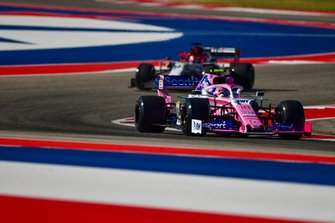 Lance Stroll, Racing Point RP19, leads Kimi Raikkonen, Alfa Romeo Racing C38