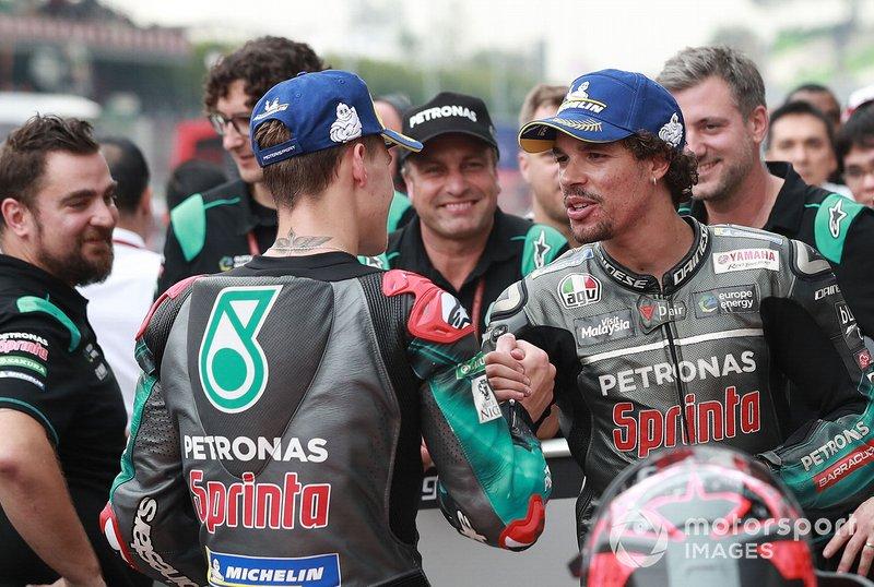 Polesitter Fabio Quartararo, Petronas Yamaha SRT, third place Franco Morbidelli, Petronas Yamaha SRT
