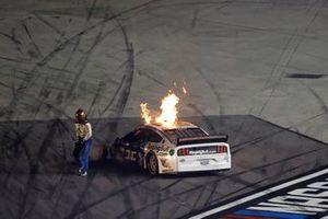 Crash: Corey LaJoie, Go FAS Racing, Ford Mustang RagingBull.com