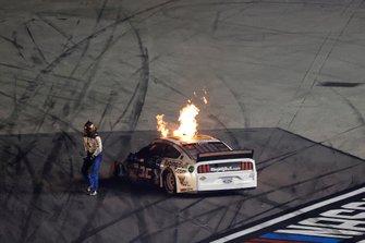 Corey LaJoie, Go FAS Racing, Ford Mustang RagingBull.com, crash
