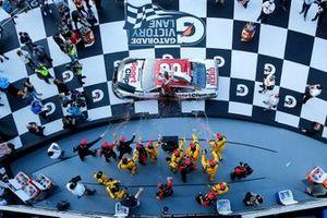 Race winner Erik Jones, Joe Gibbs Racing, Toyota Camry Sports Clips