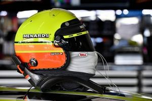 Ryan Blaney, Team Penske, Ford Mustang Menards / Peak helmet