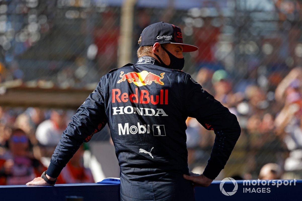 Max Verstappen, Red Bull Racing, primo classificato, dopo la sprint race
