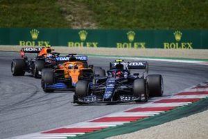 Pierre Gasly, AlphaTauri AT02,Daniel Ricciardo, McLaren MCL35MSergio Perez, Red Bull Racing RB16B
