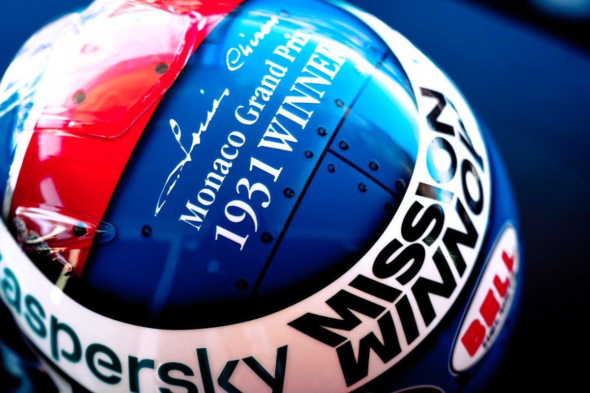 El nuevo casco de Charles Leclerc, Ferrari en el GP de Mónaco
