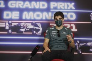 Lance Stroll, Aston Martin, in the Press Conference