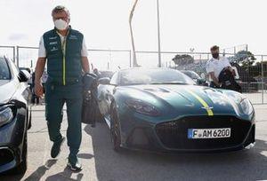Otmar Szafnauer Aston Martin arriving at Portugal GP