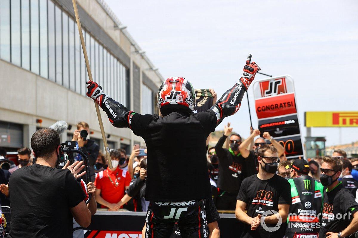 Jonathan Rea, Kawasaki Racing Team WorldSBK festeggia la 100esima gara nel WorldSBK