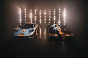 McLaren MCL35 met Gulf livery, #41 McLaren F1 GTR Le Mans 1997: Pierre-Henri Raphanel, Jean-Marc Gounon, Anders Olofsson