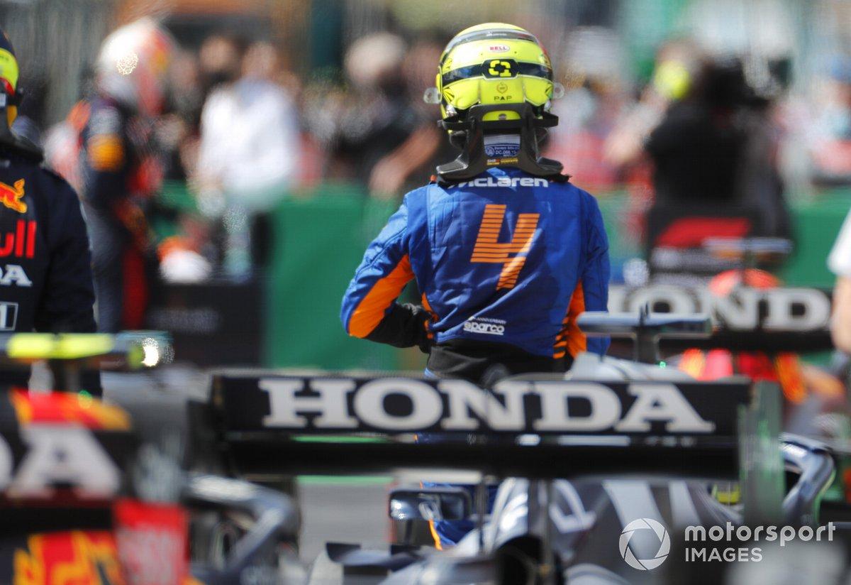 Lando Norris, McLaren, en Parc Ferme