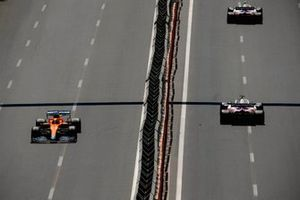 Mick Schumacher, Haas VF-21, Nikita Mazepin, Haas VF-21, and Daniel Ricciardo, McLaren MCL35M