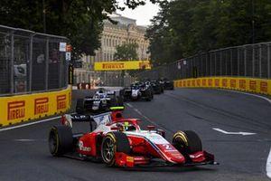 Oscar Piastri, Prema Racing, leads Matteo Nannini, Campos Racing
