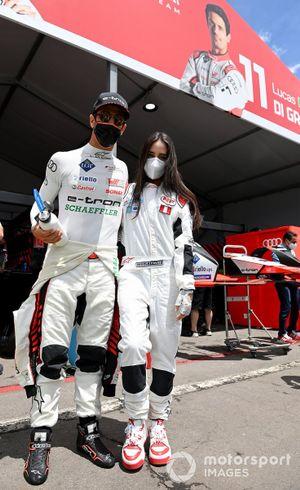 Lucas Di Grassi, Audi Sport ABT Schaeffler, with Nicole Favre