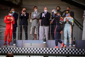 Carlos Sainz Jr., Ferrari,Max Verstappen, Red Bull Racing, Lando Norris, McLaren