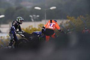 Maverick Vinales, Yamaha Factory Racing after his crash