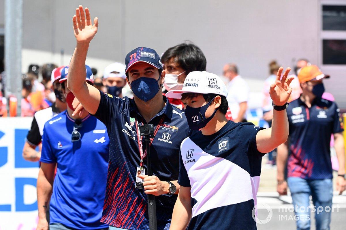 Sergio Pérez, Red Bull Racing, Yuki Tsunoda, AlphaTauri