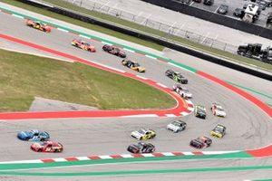 Kyle Busch, Joe Gibbs Racing, Toyota Supra Skittles Gummies, Ross Chastain, SS Green Light Racing, Chevrolet Camaro G Coin