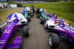The cars of Nerea Marti and Irina Sidorkova
