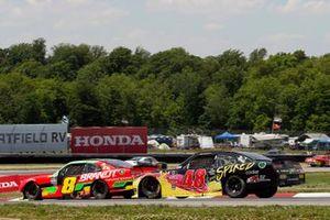 Miguel Paludo, JR Motorsports, Chevrolet Camaro BRANDT and Jade Buford, Big Machine Racing, Chevrolet Camaro Big Machine Spiked Coolers