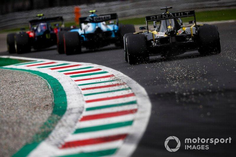 Daniel Ricciardo, Renault F1 Team R.S.19, Robert Kubica, Williams FW42 e Pierre Gasly, Toro Rosso STR14